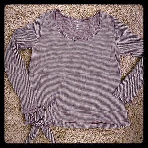 Gap Le T-Shirt Confo long sleeve tie front